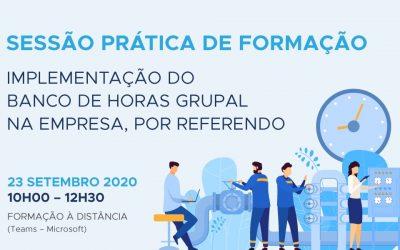 Implementação do banco de horas grupal na empresa por referendo – sessão prática de formação